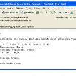 E-Mail Benachrichtigung